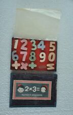 Vintage Boxed Colorful Different Number Erasers , Japan
