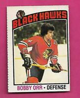 1976-77 OPC # 213 CHICAGO HAWKS BOBBY ORR GOOD CARD (INV# D7279)