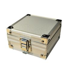 Tattoo Machine Gun Padded Silver Aluminium Display Carry Case Box