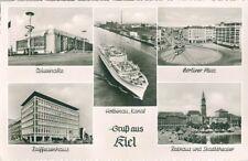 2k113 Kiel top SW MB ak Mar Báltico halle Berliner Plaza Puerto Holtenau 17.4.1959