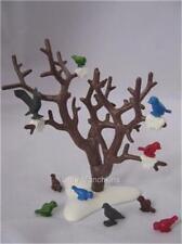 Playmobil pájaros en árbol de nieve paisaje nuevo para conjuntos de bosque de finca/Dollshouse/