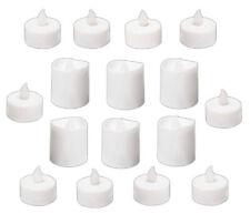16x LED TEELICHTER KERZEN Set flackernd Weiss Kerze Teelicht mit Batterien 17