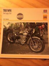 Triumph 500 Trophy TR5 1951 Carte moto Collection Atlas UK