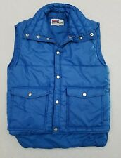 Vintage Snowdrift Ski Snow Puffer Puffy Quilted Snap Vest Blue Size Small