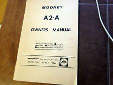 Vintage Mooney Alon A2-A Aircoupe Owner's Manual