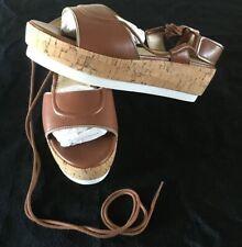 NIB Faryl Robin Anthropologie Rory Lace-up Gladiator Platform Sandals 8.5M - NEW