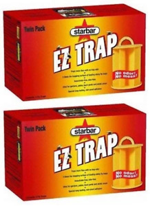Starbar EZ Fly Trap Insecticide & Odor Free Sticky Glue Insect Killer 2-Pack