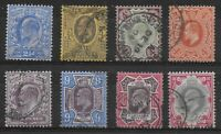 KEVII-8 Values To 9d.,10d.,1s. Fine/Very Fine Used With Fresh Colours. Ref:13179
