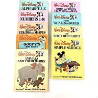Walt Disney's Reading Books Fun To Learn Vintage Books Lot of 9
