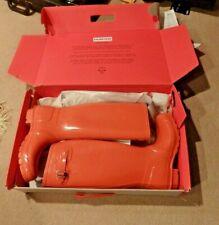 NEW in Box ORANGE Hunter rain rubber boots wellies  10