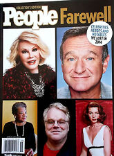 NEW People Farewell Celebrities Heroes Notables We Lost in 2014 HARD COVER  BOOK