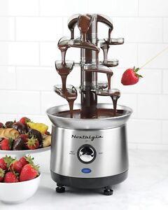 Maquina De Chocolate Fondue Fuente Electrico Para Cocinar Dulce Hogar Y Fiesta