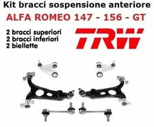 KIT 4 BRACCI SOSPENSIONI +2 BIELLETTE BARRA ANTERIORE TRW ALFA ROMEO 147 156 GT