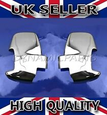 NEW FORD TRANSIT VAN MK8 ABS CHROME WING MIRROR COVER SURROUNDS CAP SET 2PCS