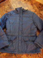 ladies LANDS' END WINTER COAT ski snow THICK blue FLEECE clean! jacket small 6/8
