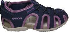 GEOX Schuhe Sandale Trekking  Navy Textil J S. Roxanne Girl  NEU