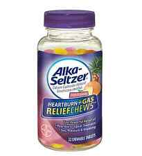 Alka-Seltzer Heartburn + Gas ReliefChews Chewable Tablets, Tropical Punch 32 ea