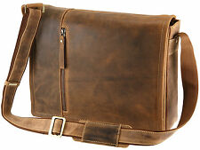 Visconti Leather Messenger Bag With Removable Laptop Pouch - Oil Tan ( 16072 )