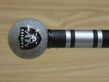 Oakland Raiders walking cane featuring a Officially Licensed NFL Ball Handle