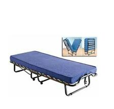 Lettino letto pieghevole con doghe in legno rete ortoprdica piu materasso
