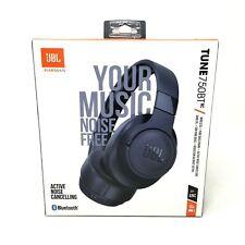Jbl Tune 750Bt Noise Cancelling Bluetooth Over-Ear Headphones, Blue