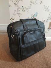 Leather travel Bag. Soft Black Nappa Leather Bag