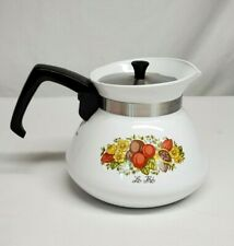 Vintage Corning Ware SPICE OF LIFE 6-Cup TEAPOT Kettle w/ Metal LID #P-104-8