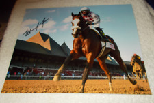 MANUEL MANNY FRANCO Tiz The Law Horse Racing SIGNED Travers Stakes 8x10 Photo