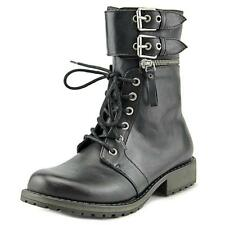 YELLOW BOX WOMEN'S Briar Military Style Ankle BOots - Black Size 8 M