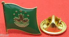 Macau Flag Lapel Hat Cap Tie Pin Badge Macao People's Republic of China Macanese