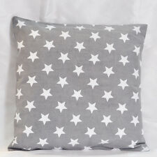 Grey white Star Printed Cotton Canvas Cushion Cover Pillow covers Pillowcase