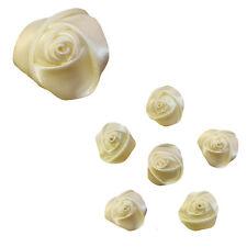 6 epingles pics cheveux chignon mariage classique fleu rose en satin IVOIRE