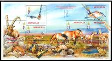 Mint Mongolian Rare animals of steppe zones Stamp Block Sheet 2001