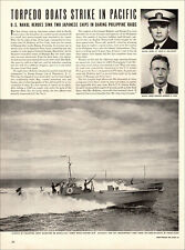 1942 WW2 article TORPEDO BOATS STRIKE IN PACIFIC Phillipine Q Boats  031719