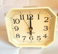 Vintage Westclox Alarm Clock White General Time Corp Made in USA
