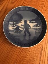 "Royal Copenhagen 1965 Collector Christmas Plate ""Little Skaters"" Kai Lange"