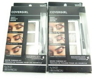 Covergirl Easy Breezy Brow Powder Kit 705 Rich Brown *Twin Pack*