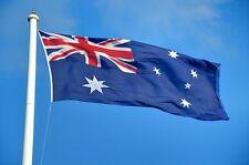 1800 x 900 mm Spun Polyester Australian Flag Brass Clips Heavy Duty Flag Pole
