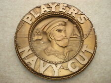 RARE C1920S VINTAGE PLAYER'S NAVY CUT 3 DIMENSIONAL SMALL GOLD LIFEBELT ADV SIGN