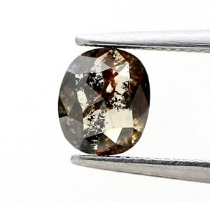 Fancy Real Natural Diamond 0.57Ct Brownish Gray Sparkling Oval Rose Cut for Gift