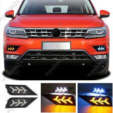 LED DRL Daytime Running Light/Front Fog Lights For Volkswagen Tiguan 2017-2019