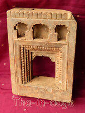 Ancien Cadre Teck Moucharabieh Sculpte 2kg 20x27,5x7,5cm Khidki Inde 5