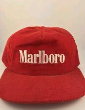 VTG Marlboro Corduroy Snapback Hat Red. Made 1990 brand new in the box