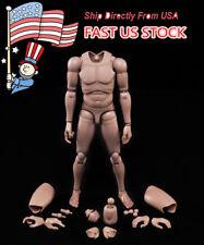 "USA Stock 1/6 MX02-A Nude Muscular Skin Men's Body F 12"" Male Figure Model Toys"