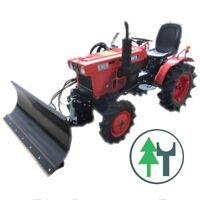Traktor Schlepper Kubota B7001 Allrad hydraulischem Schneeschild gebr. überholt