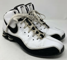 2008 Nike Shox Zoom Air Elite Size 14 Basketball Shoes 324826-101 White Black