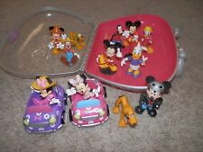 minnie mouse Disney  mickey,minnie ,goofy PVC  Toys  with carry case .cars