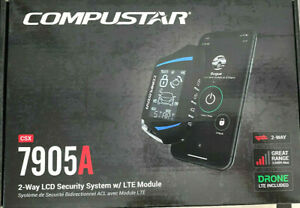 COMPUSTAR CSX7905A All-in-One 2-Way Security System w/ Drone X1 LTE Module NEW
