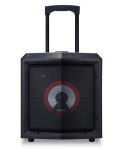 LG RL2 mobiler Party Lautsprecher Karaoke Akku Radio Bluetooth Rollen B-Ware