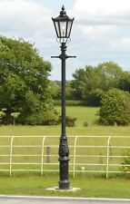Usado Ex-Display 3.7 M Hierro Fundido Victoriano Calle Luz gigante Lámpara de jardín conjunto Post
